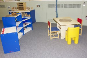 The Toddler program has many different areas to choose for play.