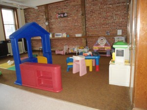 Dramatic play area in the Gross Motor Room